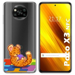 Funda Gel Transparente para Xiaomi POCO X3 NFC diseño Leopardo Dibujos