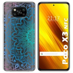 Funda Gel Transparente para Xiaomi POCO X3 NFC diseño Mandala Dibujos