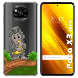 Funda Gel Transparente para Xiaomi POCO X3 NFC diseño Mono Dibujos