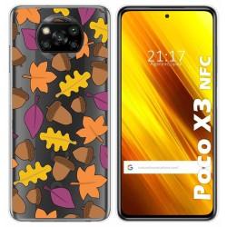 Funda Gel Transparente para Xiaomi POCO X3 NFC diseño Otoño Dibujos
