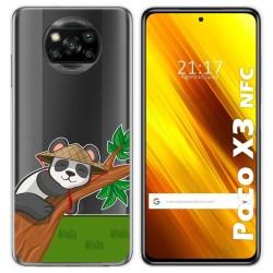 Funda Gel Transparente para Xiaomi POCO X3 NFC diseño Panda Dibujos
