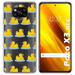 Funda Gel Transparente para Xiaomi POCO X3 NFC diseño Pato Dibujos