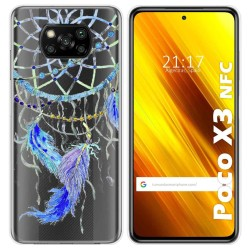 Funda Gel Transparente para Xiaomi POCO X3 NFC diseño Plumas Dibujos