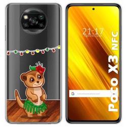 Funda Gel Transparente para Xiaomi POCO X3 NFC diseño Suricata Dibujos
