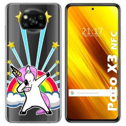 Funda Gel Transparente para Xiaomi POCO X3 NFC diseño Unicornio Dibujos