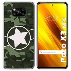 Funda Gel Tpu para Xiaomi POCO X3 NFC diseño Camuflaje 01 Dibujos
