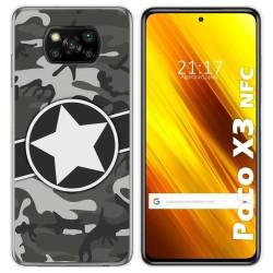 Funda Gel Tpu para Xiaomi POCO X3 NFC diseño Camuflaje 02 Dibujos