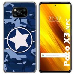 Funda Gel Tpu para Xiaomi POCO X3 NFC diseño Camuflaje 03 Dibujos