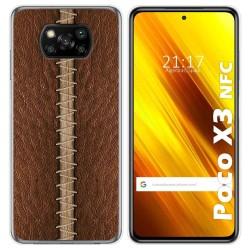 Funda Gel Tpu para Xiaomi POCO X3 NFC diseño Cuero 01 Dibujos
