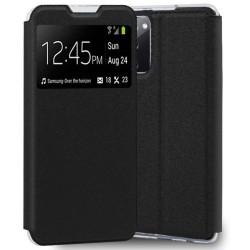 Funda Libro Soporte con Ventana para Samsung Galaxy S20 FE color Negra