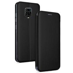 Funda Libro Soporte Magnética Elegance Negra para Xiaomi Redmi Note 9S / Note 9 Pro