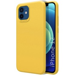 Funda Silicona Líquida Ultra Suave para Iphone 12 / 12 Pro (6.1) color Amarilla