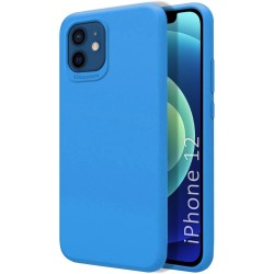 Funda Silicona Líquida Ultra Suave para Iphone 12 / 12 Pro (6.1) color Azul