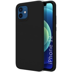 Funda Silicona Líquida Ultra Suave para Iphone 12 / 12 Pro (6.1) color Negra
