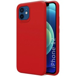 Funda Silicona Líquida Ultra Suave para Iphone 12 / 12 Pro (6.1) color Roja