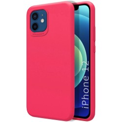 Funda Silicona Líquida Ultra Suave para Iphone 12 / 12 Pro (6.1) color Rosa Fucsia