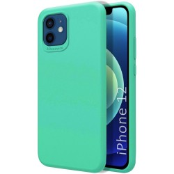 Funda Silicona Líquida Ultra Suave para Iphone 12 / 12 Pro (6.1) color Verde