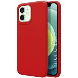 Funda Silicona Líquida Ultra Suave para Iphone 12 Mini (5.4) color Roja