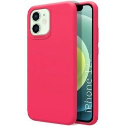 Funda Silicona Líquida Ultra Suave para Iphone 12 Mini (5.4) color Rosa Fucsia