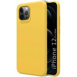 Funda Silicona Líquida Ultra Suave para Iphone 12 Pro Max (6.7) color Amarilla