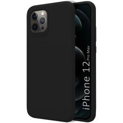 Funda Silicona Líquida Ultra Suave para Iphone 12 Pro Max (6.7) color Negra