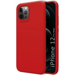 Funda Silicona Líquida Ultra Suave para Iphone 12 Pro Max (6.7) color Roja