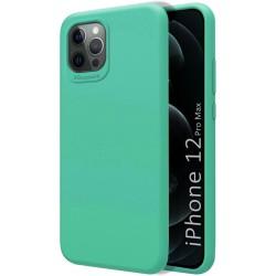 Funda Silicona Líquida Ultra Suave para Iphone 12 Pro Max (6.7) color Verde