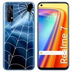 Funda Gel Transparente para Realme 7 diseño Araña Dibujos