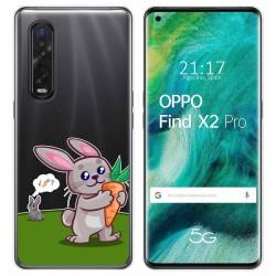 Funda Gel Transparente para Oppo Find X2 Pro diseño Conejo Dibujos
