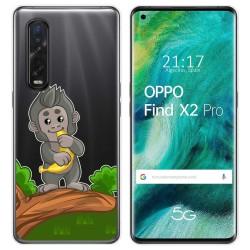 Funda Gel Transparente para Oppo Find X2 Pro diseño Mono Dibujos