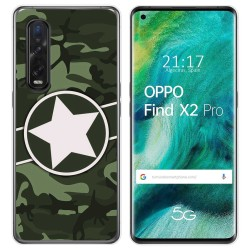 Funda Gel Tpu para Oppo Find X2 Pro diseño Camuflaje 01 Dibujos