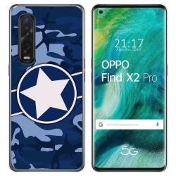 Funda Gel Tpu para Oppo Find X2 Pro diseño Camuflaje 03 Dibujos