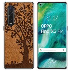 Funda Gel Tpu para Oppo Find X2 Pro diseño Cuero 03 Dibujos