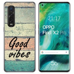 Funda Gel Tpu para Oppo Find X2 Pro diseño Madera 01 Dibujos