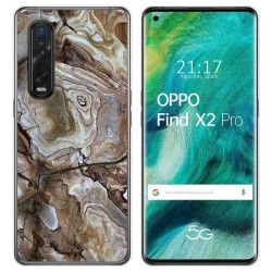 Funda Gel Tpu para Oppo Find X2 Pro diseño Mármol 14 Dibujos