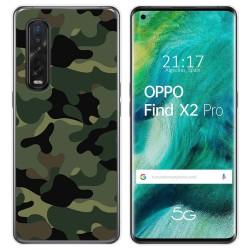Funda Gel Tpu para Oppo Find X2 Pro diseño Camuflaje Dibujos