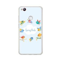 Funda Gel Tpu para Zte Nubia Z11 Mini S Diseño Spring Birds Dibujos
