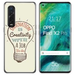 Funda Gel Tpu para Oppo Find X2 Pro diseño Creativity Dibujos