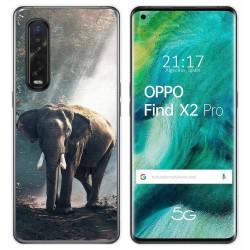 Funda Gel Tpu para Oppo Find X2 Pro diseño Elefante Dibujos
