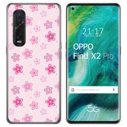 Funda Gel Tpu para Oppo Find X2 Pro diseño Flores Dibujos