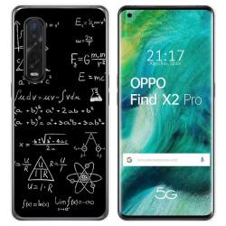 Funda Gel Tpu para Oppo Find X2 Pro diseño Formulas Dibujos