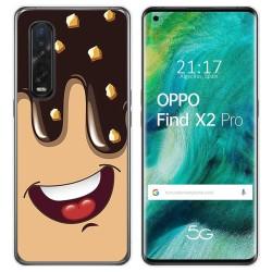 Funda Gel Tpu para Oppo Find X2 Pro diseño Helado Chocolate Dibujos