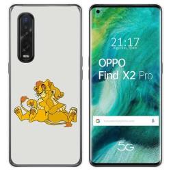 Funda Gel Tpu para Oppo Find X2 Pro diseño Leones Dibujos