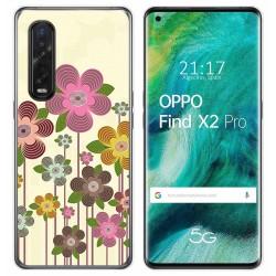 Funda Gel Tpu para Oppo Find X2 Pro diseño Primavera En Flor Dibujos