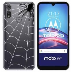 Funda Gel Transparente para Motorola Moto e6s diseño Araña Dibujos