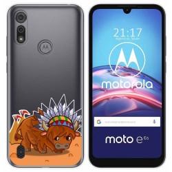 Funda Gel Transparente para Motorola Moto e6s diseño Bufalo Dibujos