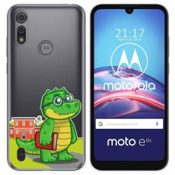 Funda Gel Transparente para Motorola Moto e6s diseño Coco Dibujos