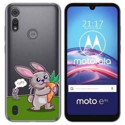 Funda Gel Transparente para Motorola Moto e6s diseño Conejo Dibujos