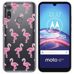 Funda Gel Transparente para Motorola Moto e6s diseño Flamenco Dibujos