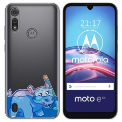 Funda Gel Transparente para Motorola Moto e6s diseño Hipo Dibujos